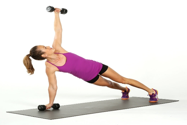 Plank Arm Row And Rotations