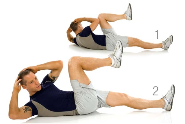 Bicycle Crunches: