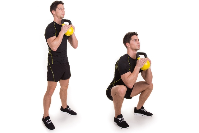 Kettle bell Squats