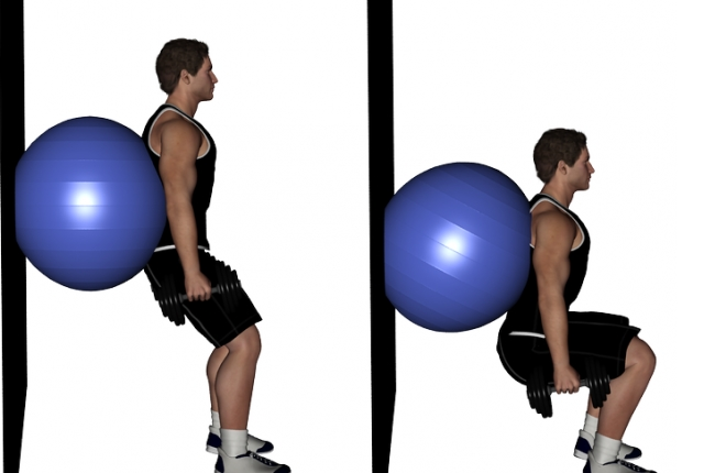 Wall Slides With Ball Squeeze