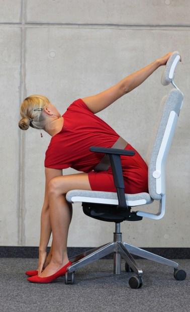 back stretch yoga at work