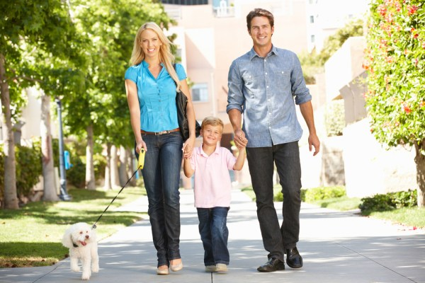 A little fun bonding and workout would be a routine of walking the dog with your family. Even the pup's going to enjoy it!