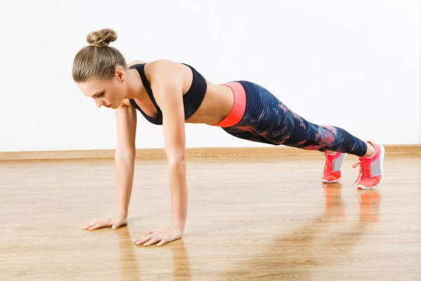 A quick round of push-ups to get your sweat on.