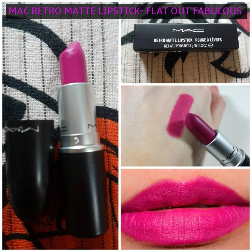 Mac Retro Matte Lipstick Flat Out Fabulous Review Swatches