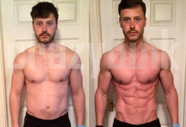 before and after cutting stack