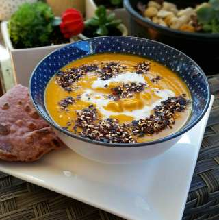 Japanese Curry Roasted Pumpkin Soup