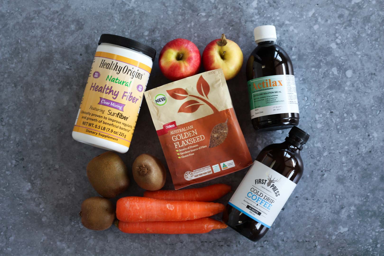 Constipation supplements and foods