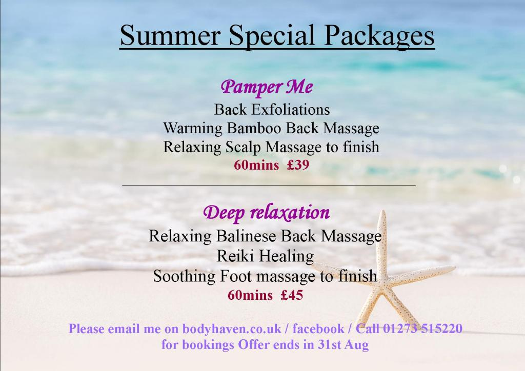summer packages aug 2020