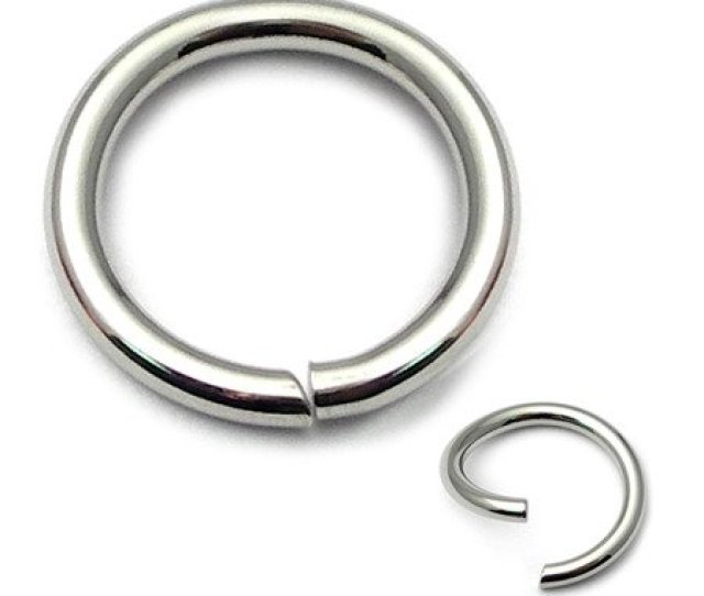 Surgical Steel Continuous Ring Nose Ring  Mm Gauge Mm Internal Diameter Carefully Twist Ends Sideways