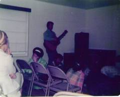 Worshipping in the old library