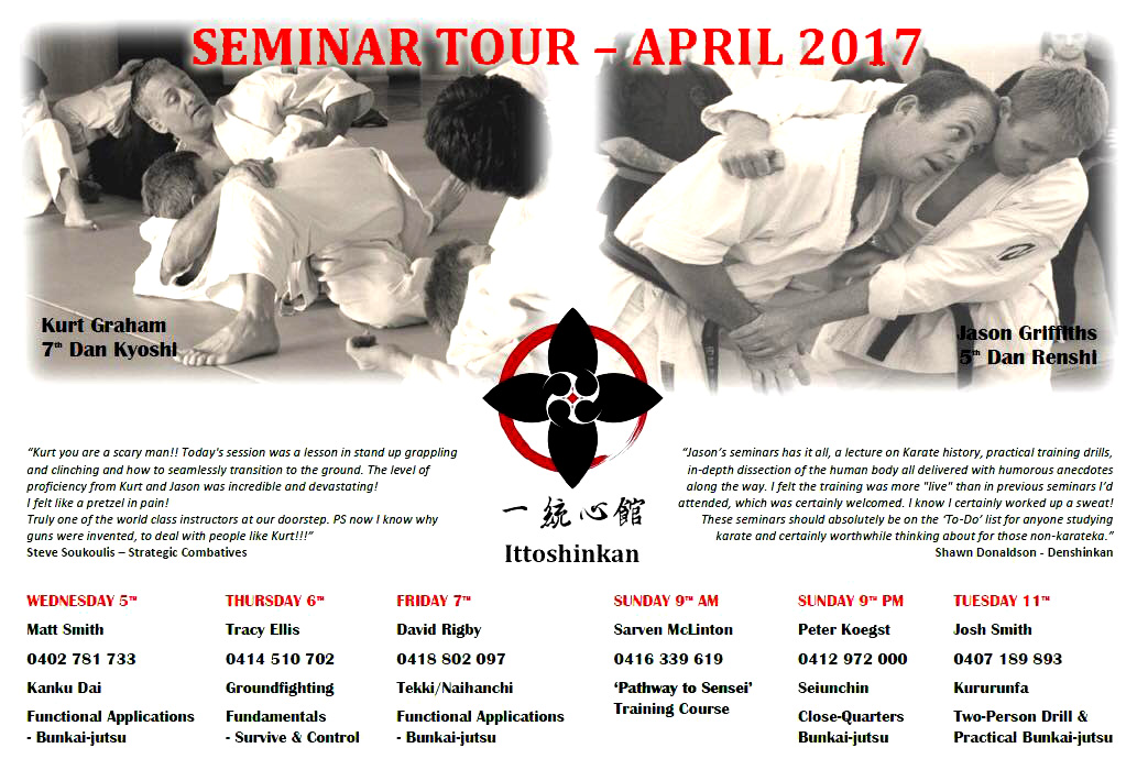 Ittoshinkan Adelaide April 2017 Tour