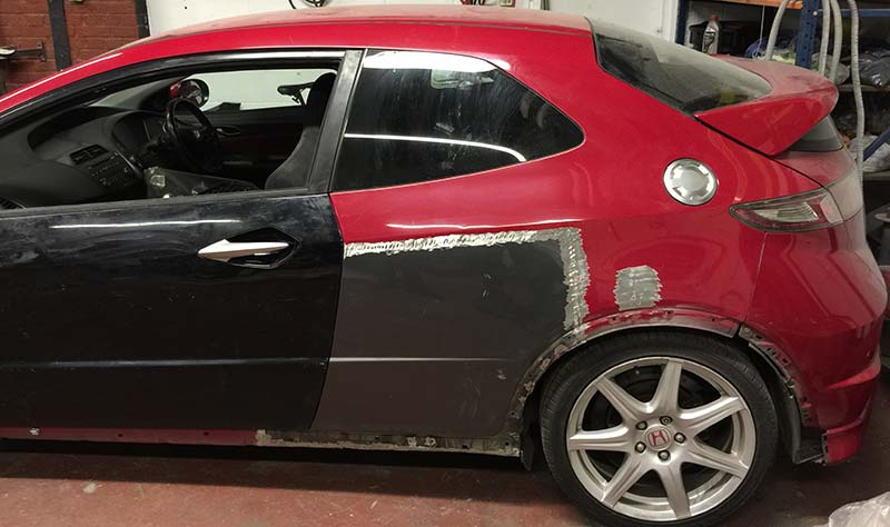 Honda Civic TypeR FN2 Accident Repair London  BODYTEQ