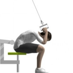 Chair Exercises On Cable Tv Portable High For Travel Crunch, Seated, | Exercise Strength-training