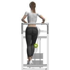 gym chest chair white wooden kitchen chairs standing hip abduction, lever | exercise strength-training