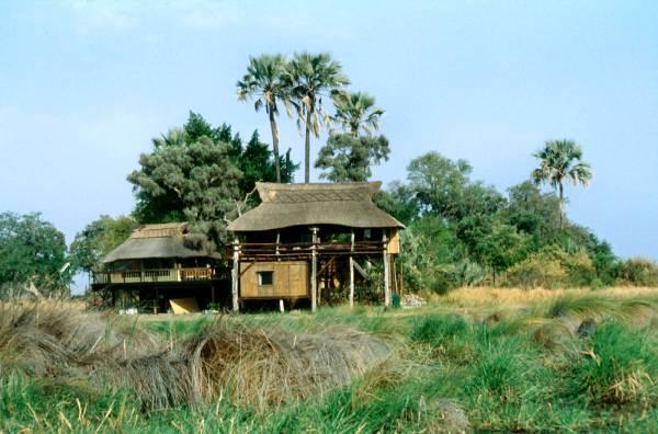 Aussichtsplattform/Dinning Room/Bar in Gunns Camp (Okavango/Botswana)