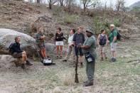 Wollhuter Trail: Pause für die Gruppe