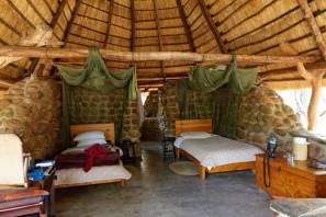 Unterkunft im Mkhaya Stone Camp (Mkhaya Game Reserve, Swaziland)