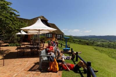 Terrasse des Hilltop Restaurants (Hluhluwe-iUmfolozi Game Reserve)