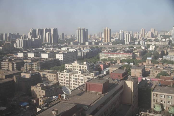 Blick vom Hotel auf Xi'an