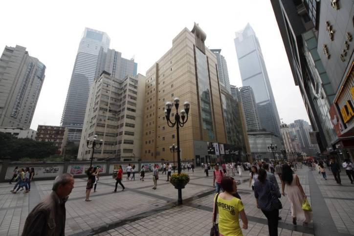 Einkaufsstraße in Chongqing