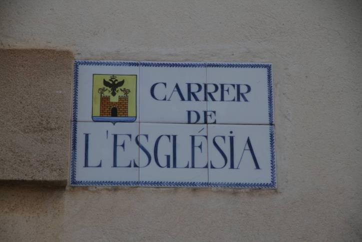 Straßenschild in Alcudia