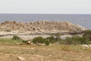 Vom Meer geschaffenes Amphitheater