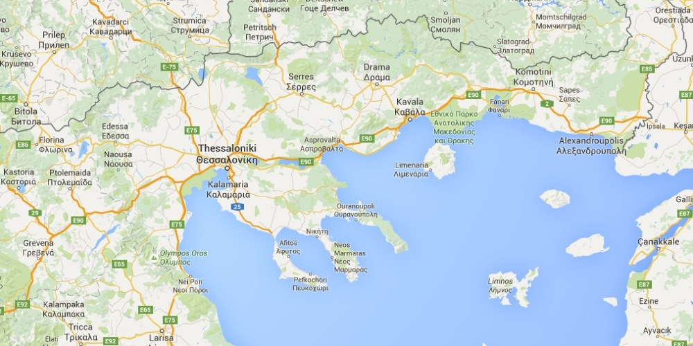 Landkarte Nordgriechenland