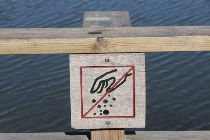 Schild im Naturschutzgebiet S'Albufera