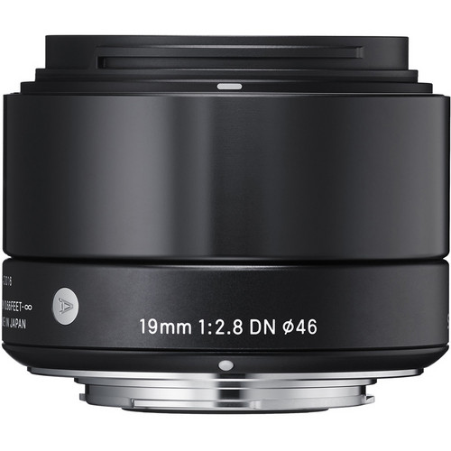 Sigma 19mm f/2.8 DN Lens for (Sony E, M4/3 Mount) (Black & Silver)