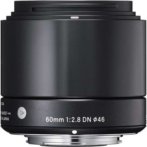 Sigma 60mm f/2.8 DN Lens for (Sony E, M4/3 Mount) (Black & Silver)