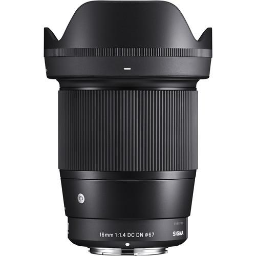 Sigma 16mm f/1.4 DC DN Contemporary Lens for Sony E & M4/3