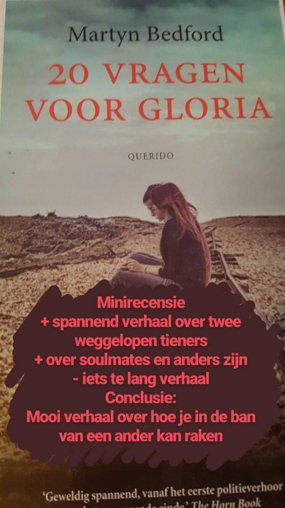 boek 20 vragen voor gloria
