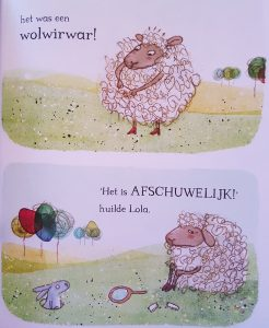 prentenboek schaap dat een ei uitbroedde