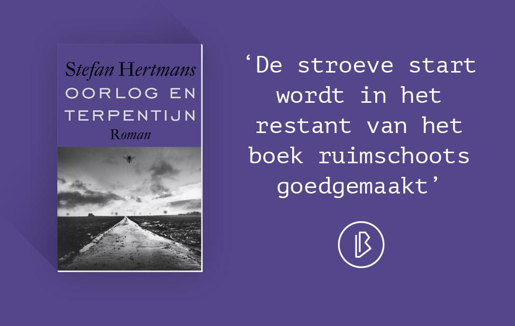 Recensie: Stefan Hertmans – Oorlog en terpentijn