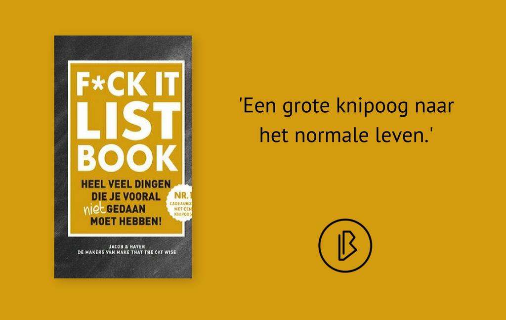 Recensie: Jacob & Haver – F*ck it list book