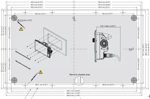 small resolution of nss12 evo3 dimensions and flush mount template