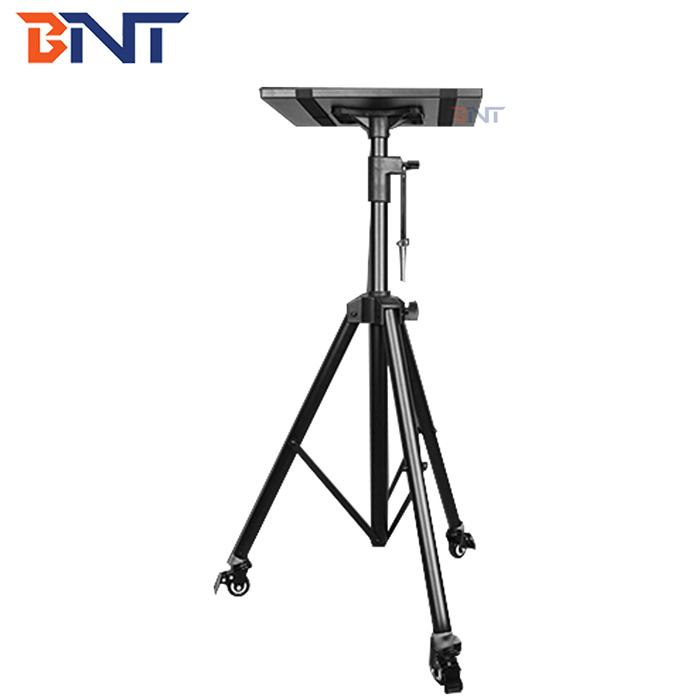 Height adjustable projector tripod stand with wheels BNT