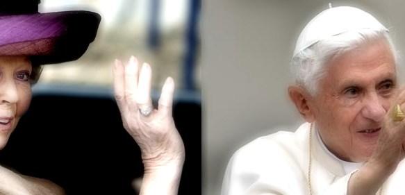 De krachtige Koningin en de uitgeputte Paus
