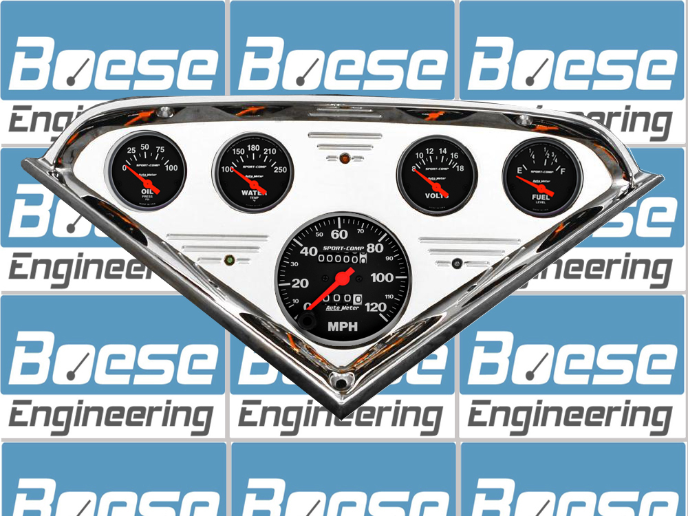 1955 56 57 58 59 Chevy Truck Billet Aluminum Gauge Panel w