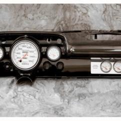 Chevy Radio 57 Ezgo Windshield Car Billet Aluminum Gauge Panel Dash Insert Instrument 1957 W Ultra Lite Gauges