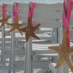 Starfish Wedding Chair Decorations Director Covers Grey Ceremony Pew And