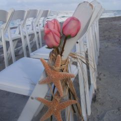Starfish Wedding Chair Decorations Used All Purpose Styling Chairs Ceremony Pew And