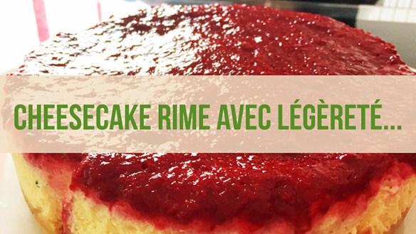 Image de presentation de la recette du cheese cake aerien