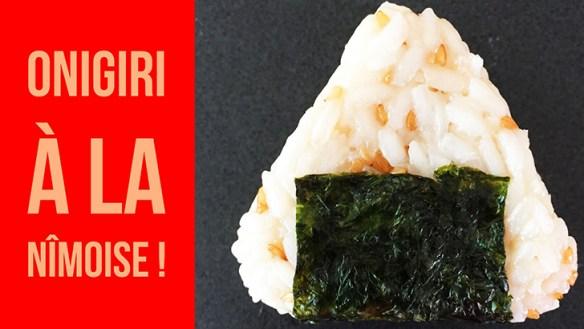Image de presentation de la recette des onigiri de nimes