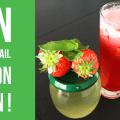 Image de presentation de la recette du mocktail fraises basilic hibiscus