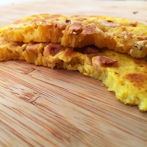 Intérieur des pancakes
