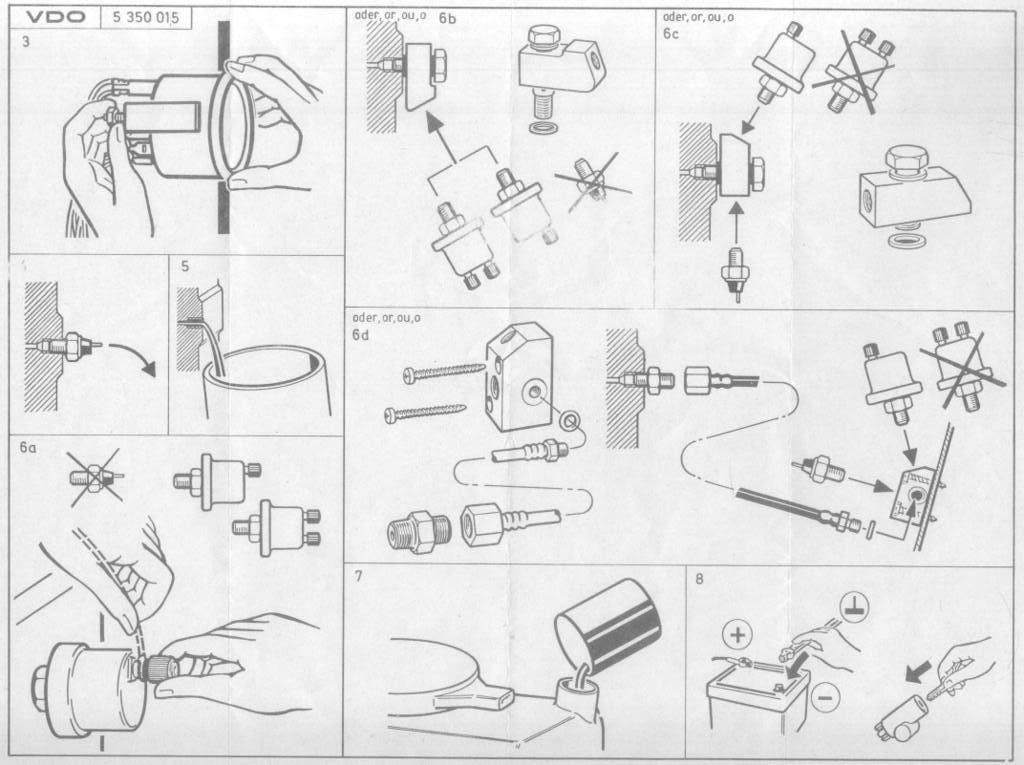 VDO műszerek beépítése