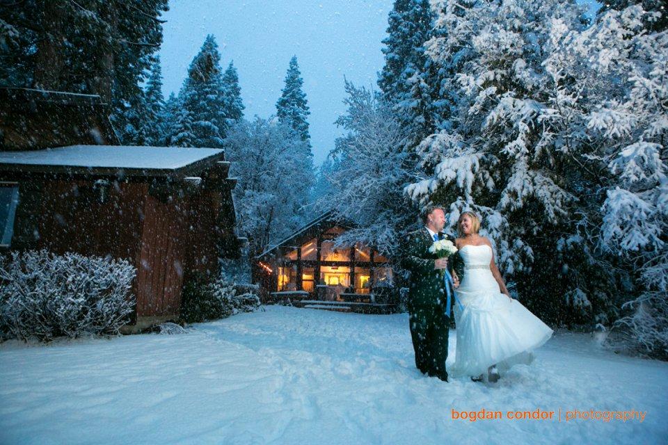 Lake Tahoe Winter Wedding  Cara and Eric  Sacramento Wedding Photographer