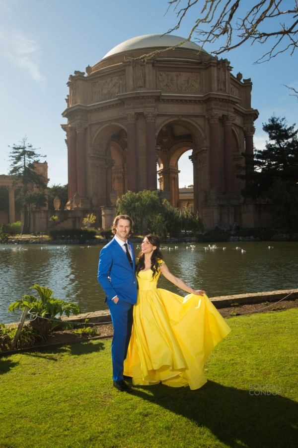 Beauty And Beast -inspired Engagement Session San