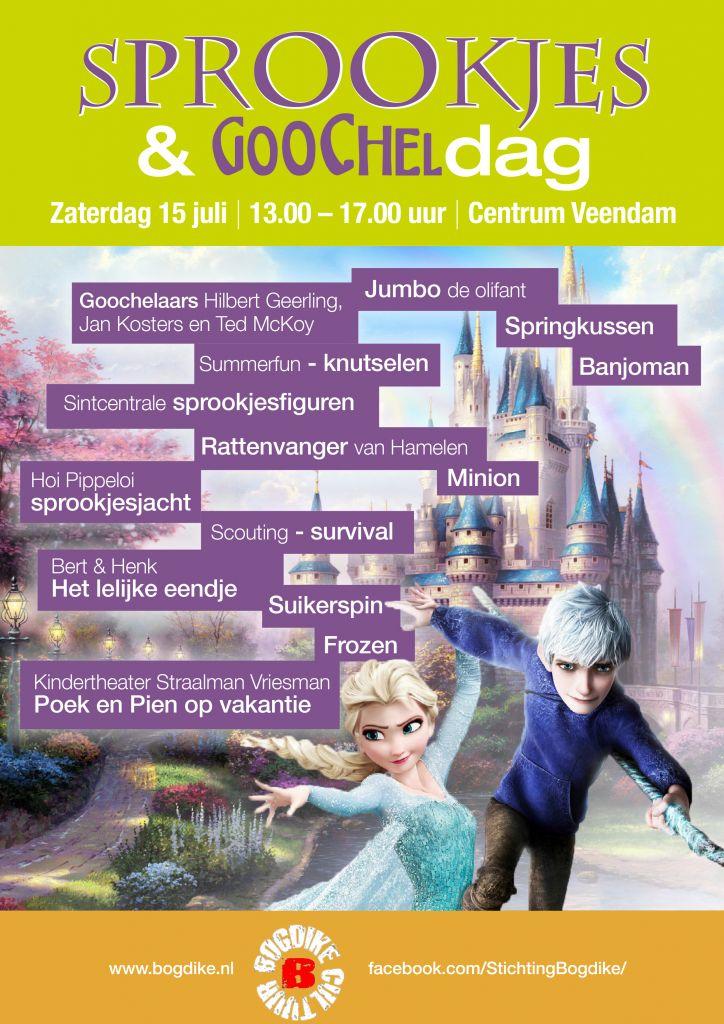 Sprookjesdag & Goocheldag op zaterdag 15 juli 2017 in centrum Veendam